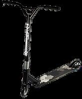 🛴 Трюковой самокат Kick Scooter с усиленным хомутом 61 см, колесо 110мм - черный для трюков!