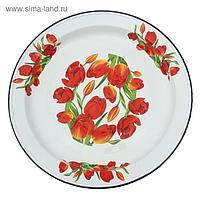 """Блюдо 5 л """"Тюльпаны"""", декор на дне, деколь МИКС"""