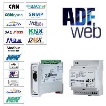 ADFweb - Преобразователи, шлюзы, ретрансляторы RS485\232, Ethernet, Modbus, MBus, KNX и др.