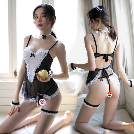 Эротическое белье белое, для ролевых игр, костюм горничной