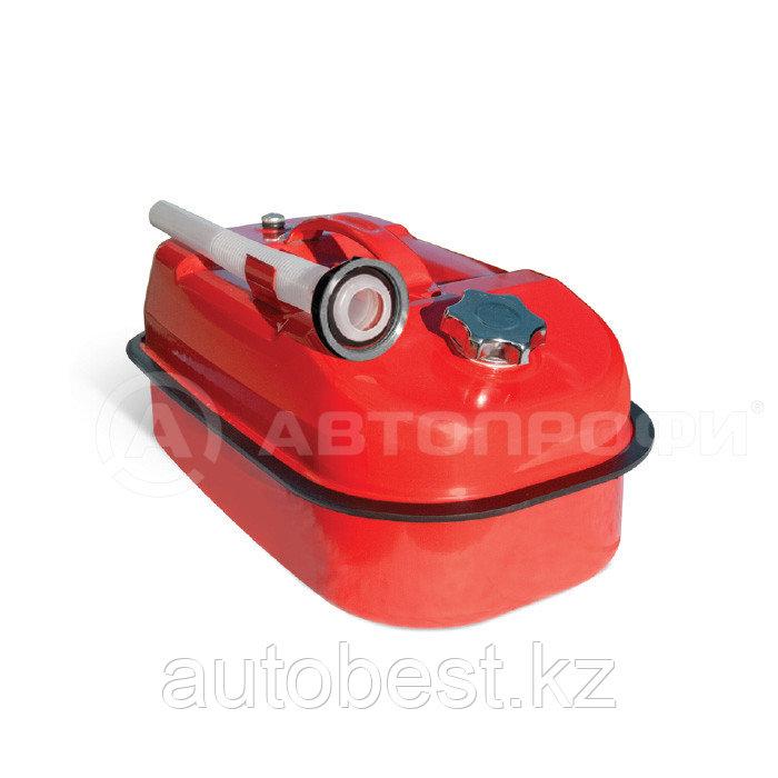 Канистра стальная «AUTOPROFI»,10л горизонтальная, оцинкованная, горловина с навинчив. крышкой, перепуск