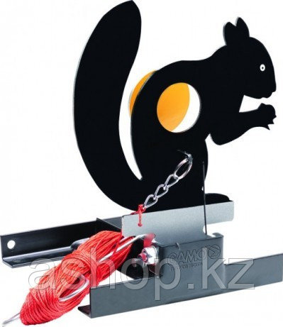Стенд белка Gamo SQUIRREL TARGET,  1 мишеней, Пулеулавливатель, Сброс: Ручной, веревка 45 метров, Цвет: Чёрный