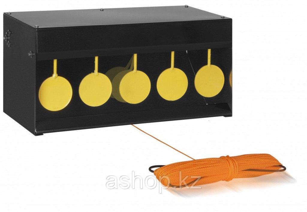 Стенд с мишенями Gamo PELLETS TRAP 5 CIRCLES,  5 мишеней, Пулеулавливатель, Сброс: Ручной, веревка 45 метров,