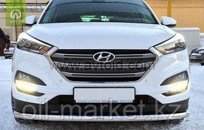 Защита переднего бампера, круглая для Hyundai Tucson (2015-2018), фото 2