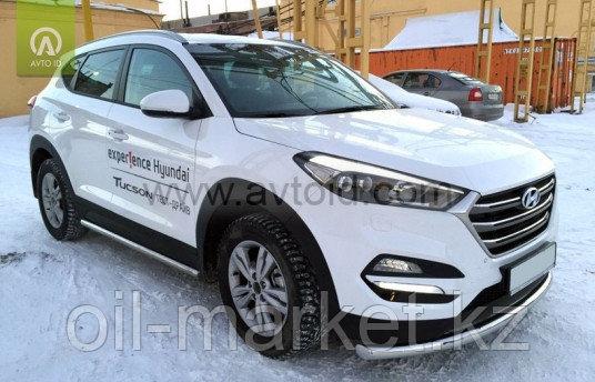 Защита переднего бампера, круглая для Hyundai Tucson (2015-2018)