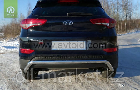 Защита заднего бампера, волна для Hyundai Tucson (2015-2018) кроме High-Tech, фото 2