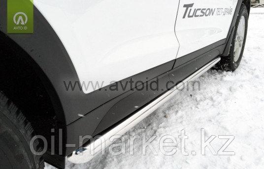 Пороги,  труба для Hyundai Tucson (2015-2018)
