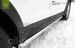 Пороги,  труба для Hyundai Tucson (2015-2018), фото 2