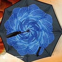 Зонт-наоборот, синий цветок