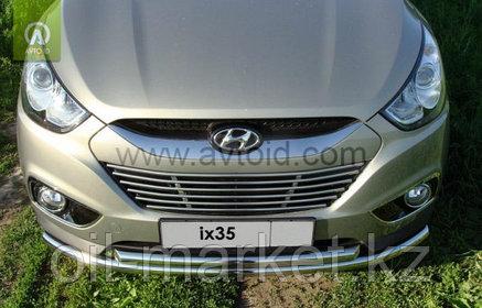 Защита переднего бампера, двойная для Hyundai IX 35 (2010-2015), фото 2