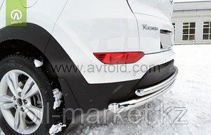 Защита заднего бампера, двойная для Hyundai IX 35 (2010-2015), фото 2