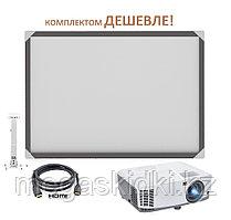 Интерактивный комплект - доска DigiTouch DTWB83 + проектор ViewSonic PA503S