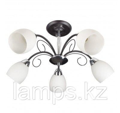 Люстра потолочная MX10305S/5 Black+CR , фото 2