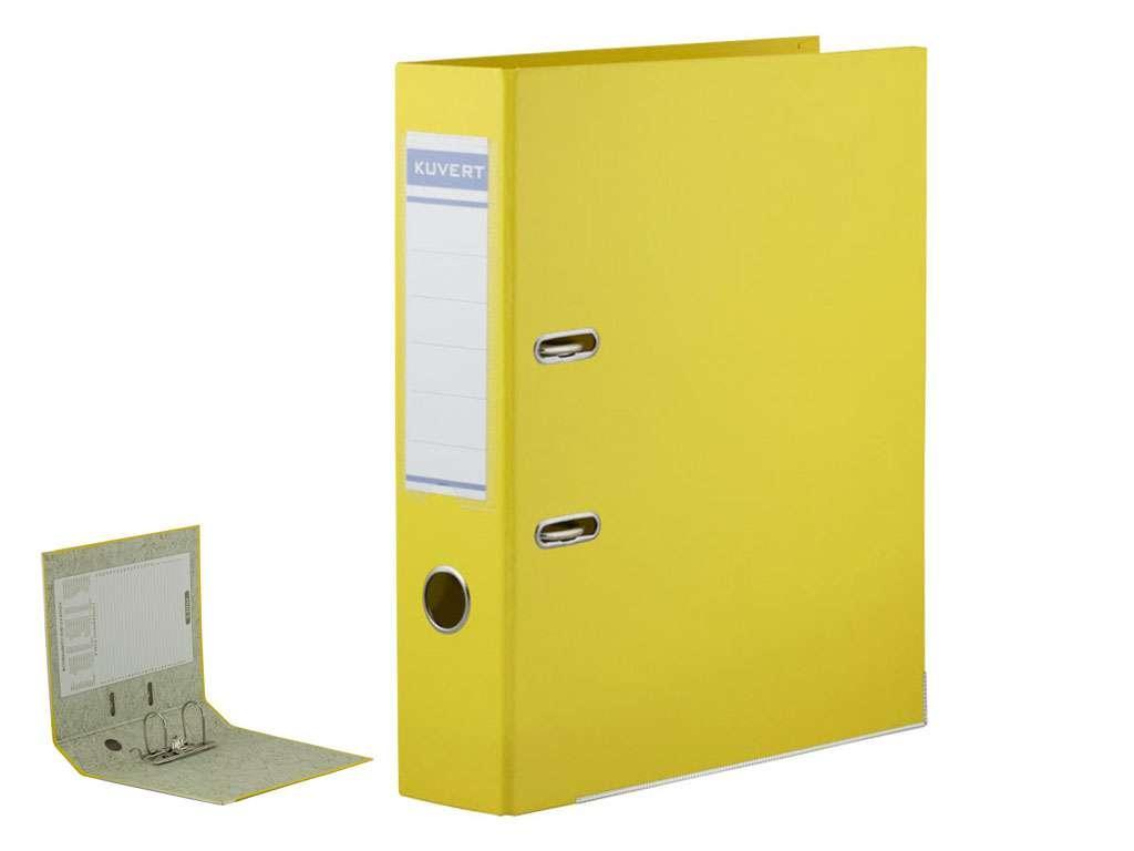 Папка-регистратор KUVERT А4, ширина корешка 50 мм, желтая