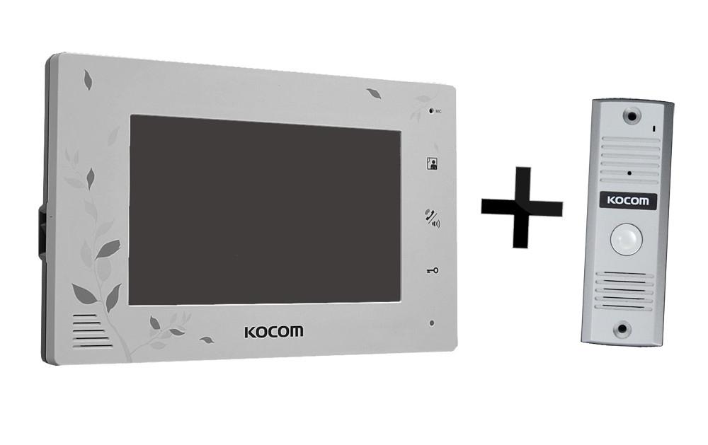 KCV-A374LE(W)+KC-MC20 Kocom комплект видеодомофона