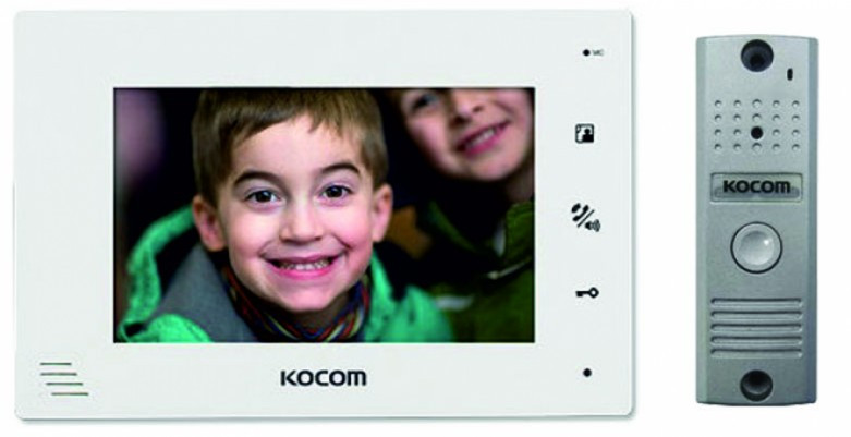 KCV-A374W+KC-MC20 Kocom комплект видеодомофона