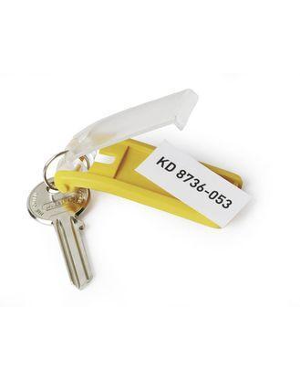 "Брелок для ключей Durable ""Key Clip"", 6 шт/уп, желтый, цена за 1шт."