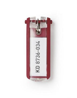 "Брелок для ключей Durable ""Key Clip"", 6 шт/уп, красный, цена за 1шт."