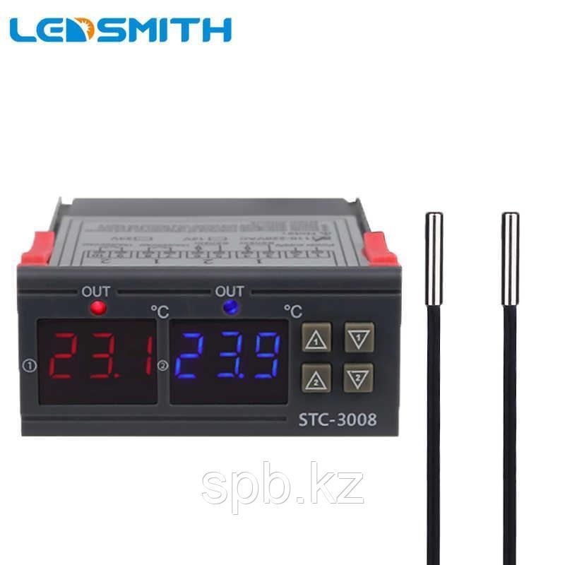 Термостат двойной STC-3008