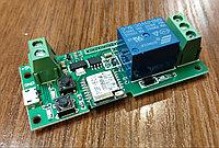 Реле включения/выключения программируемое 5 вольт без корпуса (wi-fi)