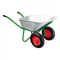 Тачка садово-строительная, двухколесная, усиленная, грузоподъемность 320 кг, объем 100 л Kronwerk, 689235