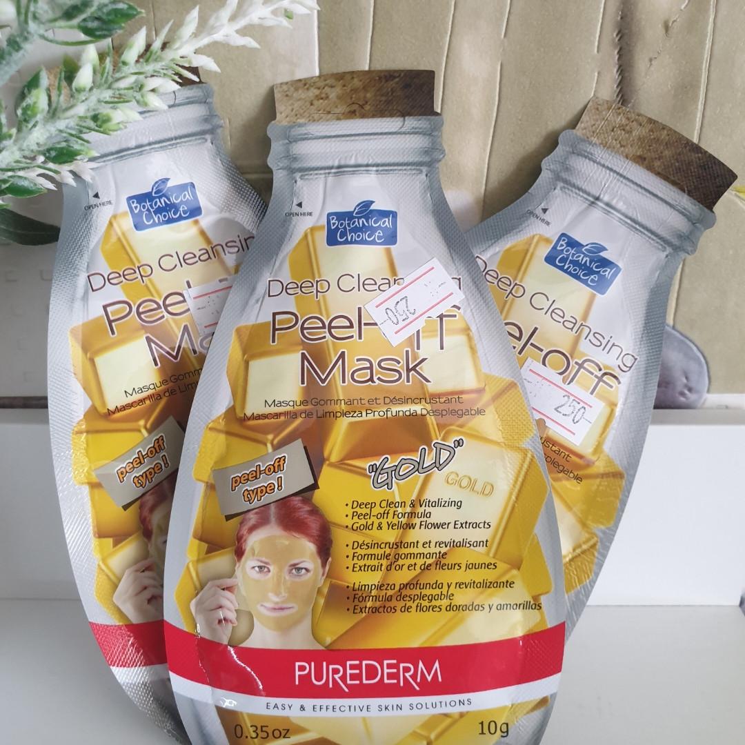 Peel-off Mask Gold Purederm ( Тканевые маски Корея)