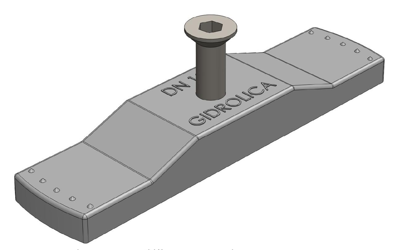 Крепеж стальной Gidrolica для лотка водоотводного пластикового DN100 (с болтом