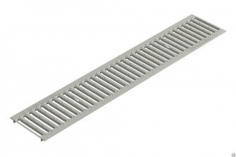 Решетка водоприемная Gidrolica Standart РВ -100х136х1000 - штампованная стальная оцинкованная, кл. А15