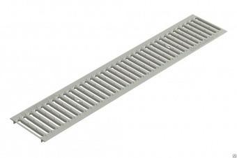 Решетка водоприемная Gidrolica Standart РВ-100х136х1000 - штампованная стальная оцинкованная с отверстиями для крепления, кл. А15