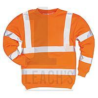 Hi Vis Railtrack Sweatshirt / Jumper Orange / Railtrack Оранжевая сигнальная толстовка / джемпер