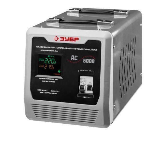 Стабилизатор напряжения 5000 ВА, 140-260 В, 8 %, ЗУБР 59380-5