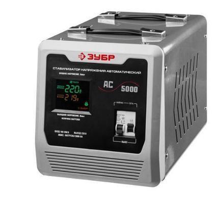 Стабилизатор напряжения 5000 ВА, 140-260 В, 8 %, ЗУБР 59380-5, фото 2