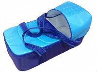 Сумка переноска для новорожденных Фея Кокон синий-василек