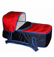 Сумка переноска для новорожденных Фея Кокон сине-красная, фото 1