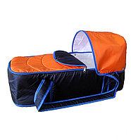 Сумка переноска для новорожденных Фея Кокон синий-оранжевый, фото 1