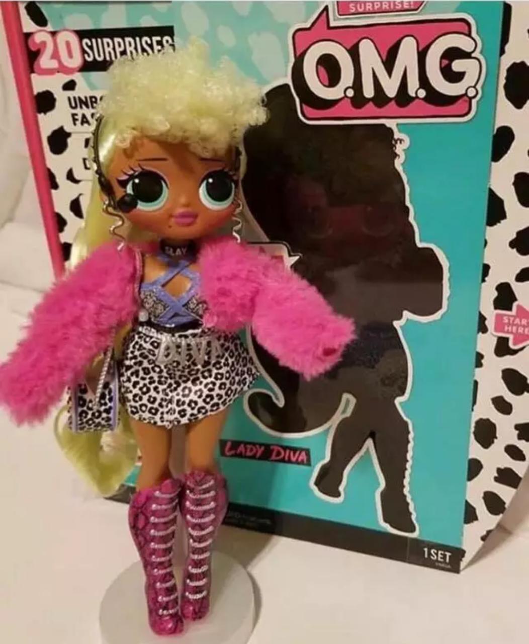 Кукла L.O.L Surprise! O.M.G. Fashion Lady Diva 30 см Большая кукла ЛОЛ Леди Дива
