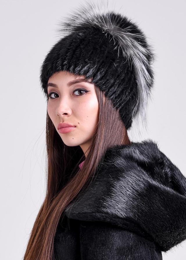 Женская зимняя шапка с меховым обручем ФОТО казахстан