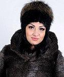 Женская меховая шапка из енота, фото 2