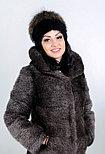 Женская меховая шапка из енота, фото 3