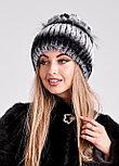 Женская зимняя шапка из меха кролика Рекс | БОБРИКА, фото 2