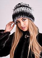 Женская зимняя шапка из меха кролика Рекс | БОБРИКА