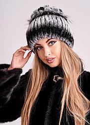 Женская зимняя шапка из меха кролика Рекс   БОБРИКА