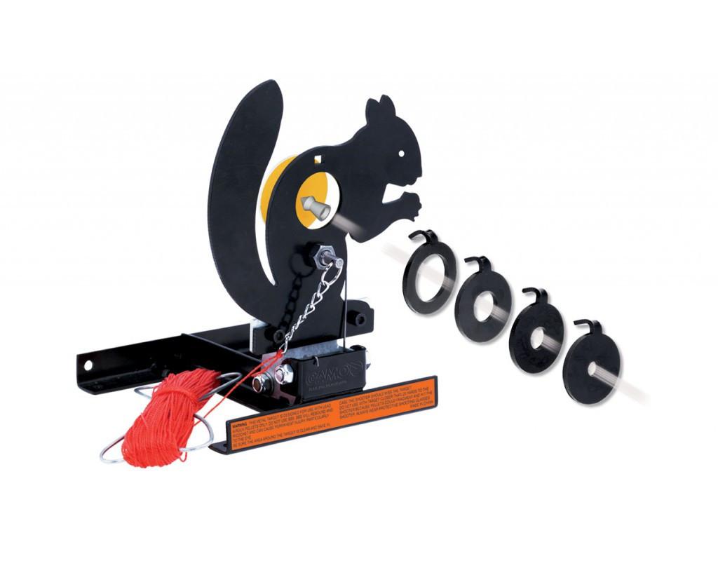 Стенд белка Gamo SQUIRREL TARGET TRAP,  1 мишеней, Пулеулавливатель, Сброс: Ручной, веревка 45 метров, Сменные