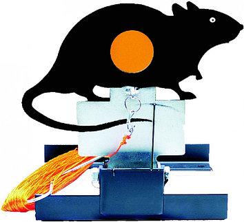 Стенд крыса Gamo RAT TARGET,  1 мишеней, Пулеулавливатель, Сброс: Ручной, веревка 45 метров, Цвет: Чёрный