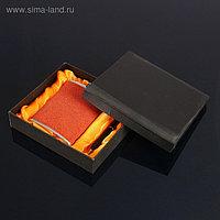"""Подарочный набор """"Командор"""" 2 в 1: фляжка 240 мл, коричневая, шариковая ручка, 16.5х19 см"""