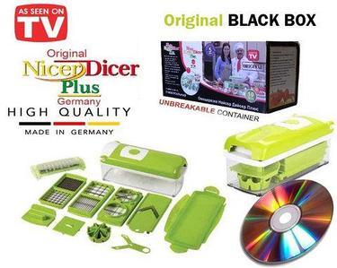 Мультирезка для овощей универсальная NicerDicer+ BLACK 2019 Edition с CD-диском