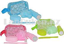 Дорожный набор для душа 5 предметов (мочалка, мыльница, расческа, футляр для зубной щетки, косметичка)