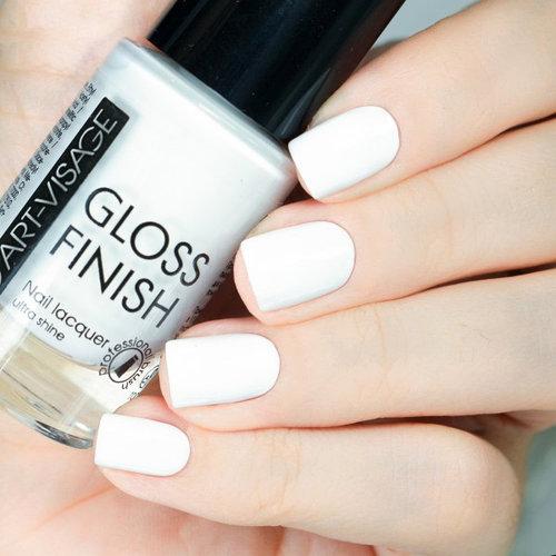 ART-VISAGE Лак для ногтей GLOSS FINISH 102 белая лилия
