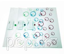 Папка пластиковая на кнопке A4 Tramix круги, корман для визитки