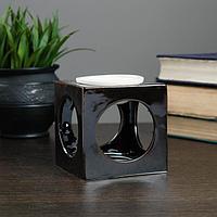 "Аромалампа керамика ""Грани"" Куб микс 9*7,5*7,5 см, фото 1"